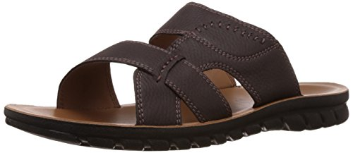 FLS (By Franco Leone) Men's Brown Sandal And Floaters - 7.5 UK/41 EU  available at amazon for Rs.404
