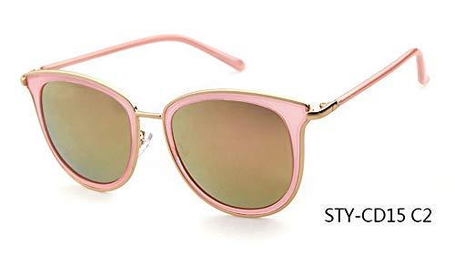 Sonnenbrille,Neueste Sonnenbrille Frauen Design Cat Eye Sonnenbrille Spitze Frames Party Rosa Braun Gelb