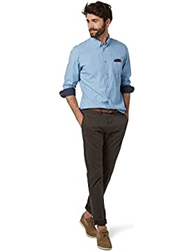 Tom Tailor 64047870910, Pantalones con Cinturón Para Hombre