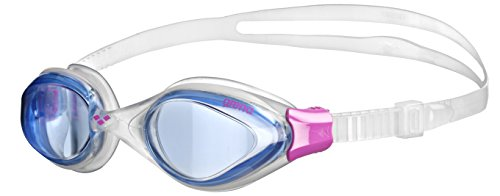 Arena Fluid Woman Occhialini da Donna, Blue/Clear/Fucsia, TU