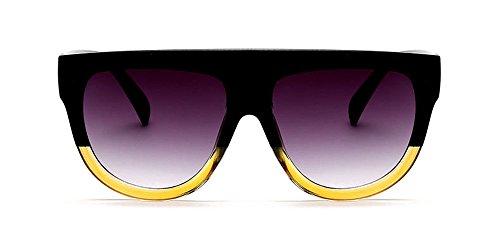 Zevonda moda occhiali da sole retro bicolore telaio del pc uv400 non-polarizzati per unisex uomo e donna (stile 08)
