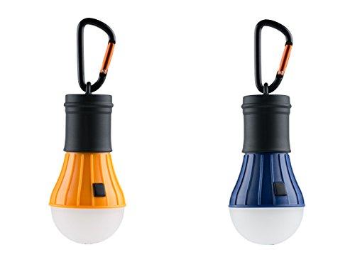 AceCamp 2 x LED Camping-Lampe Männer Frauen Geschenkidee, Doppelpack, Orange Blau, 102836-ace