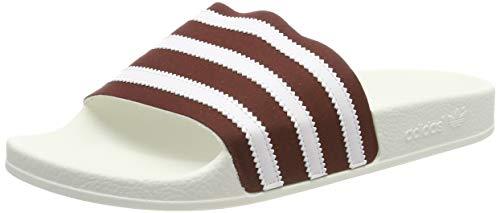 adidas ADILETTE, Herren Pantoffeln, Rot (Collegiate Burgundy/Ftwr White/Off White Collegiate Burgundy/Ftwr White/Off White), 47 EU (12 UK)