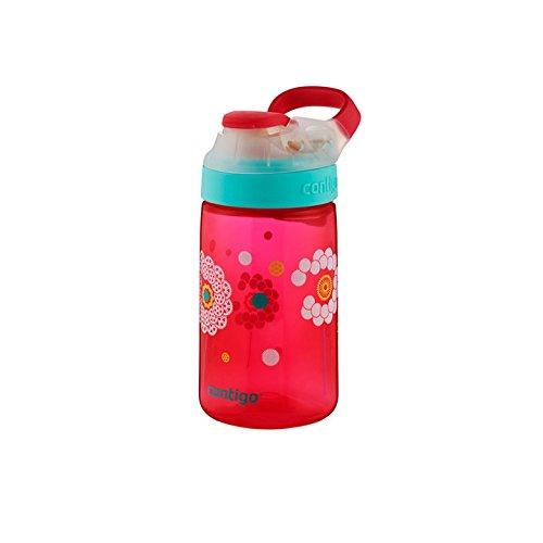 Contigo Gizmo SIP - Botella de hidratación Infantil, Color Cereza, con Dibujo de Diente de león, 420 ml