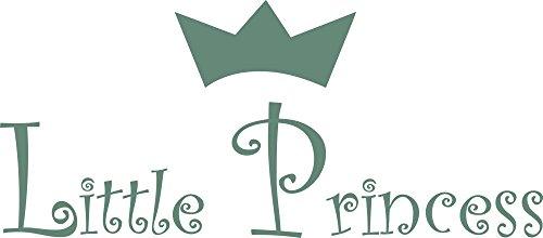 (GRAZDesign 720020_40_840 Wandtattoo Spruch Little Princess Kinderzimmer Babyzimmer | Geschenk zur Geburt (91x40cm//840 Pastel Turquoise))