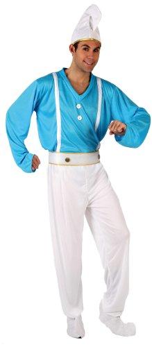 Imagen de atosa  disfraz de pitufo para hombre, talla 50  52 5952