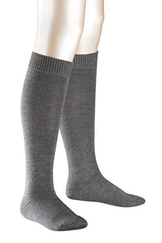 FALKE Kinder Comfort Wool K KH Kniestrümpfe, Grau (Dark Grey 3070), 35-38