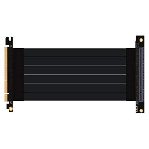 Semoic Pci-Express 3.0 16X A Pcie X16 Tarjetas De Imagen De Cable De Extensión Vertical Conector De Cable Pci-E De 16X Ranuras Estable para Pc Anfitrión 15Cm (90 Grados)