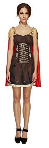 Fever Damen Gladiator Kostüm, Kleid mit Umhang, Größe: M, 33258