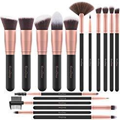 Pennelli Make Up EmaxDesign 17 pezzi Set di pennelli per trucco Fondotinta Cipria Crème Liquido Professionali Pennelli per volto ombretti e