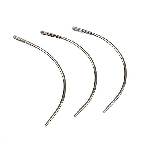 Haar Verlängerung Perücke (MagiDeal 12st Perücke werkzeug Haarverlängerung Nadeln Werkzeuge C Stil Weben Schuss Haken Nadel Ziehen)