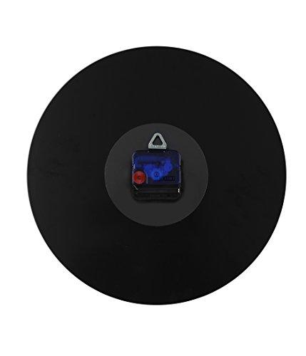 NeXtime Wanduhr 'CLASSY ROUND', lautlos, rund, aus Glas, Schwarz / Kupfer, ø 30 cm
