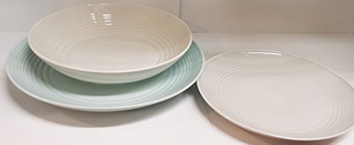 Royal Doulton Gordon Ramsey Maze Ensemble 4 places Table assiettes fonds fruits Couleurs Pastel Blanc Bleu Gris