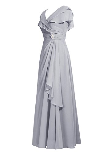 Dresstells Damen Abendkleider V-Ausschnitt Ärmellose Homecoming Kleider Lavender