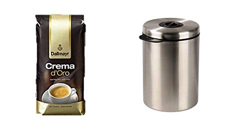 Dallmayr Kaffee Crema D'oro Plus Xavax Kaffeedose für 1 kg Kaffeebohnen (Tee, Kakao, Mit...