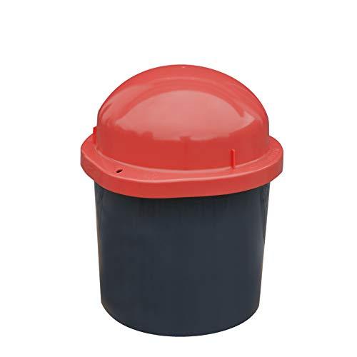 KUEFA Duo Mini - Wetterfester Mülleimer/Aufbewahrungsbehälter / Sammeltonne (Rot)