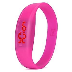 Zolimx Herren Damen Mode Digital LED Sportuhr Unisex Silikon Band Armbanduhren