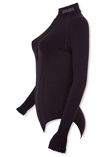 Body - 02 gatta sous-vêtements-body manches longues sans coutures-matériau respirant-confortable pour le sport et les loisirs Noir - Noir