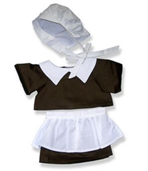 Pilgrim Girl Clothes for 14 - 18 Stuffed Animals and Dolls