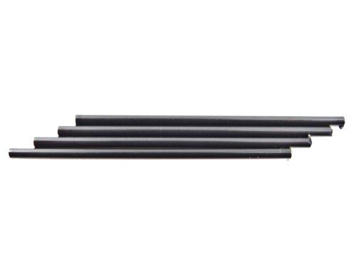 R&F Side Dot Inlay Stab - 5cm Länge x 2mm Durchmesser - schwarz - 4er Pack (Lange Dot)
