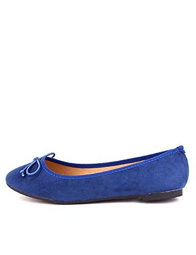 Cendriyon Ballerine Simili Peau Blue COALA Chaussures Femme