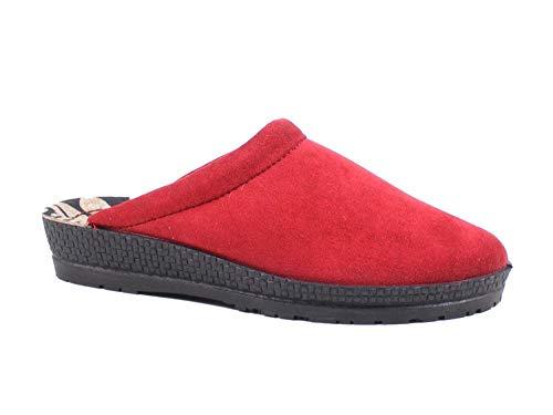 Rohde 2291 Neustadt-D Damen Pantoffeln Hausschuhe Weite G, Schuhgröße:43 EU, Farbe:Rot