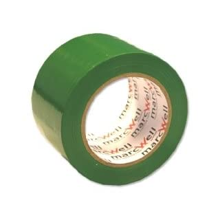 Adpac Marcwell Floor Marking Tape Heavy-duty Green 75mm x 33m Ref LMT75Y