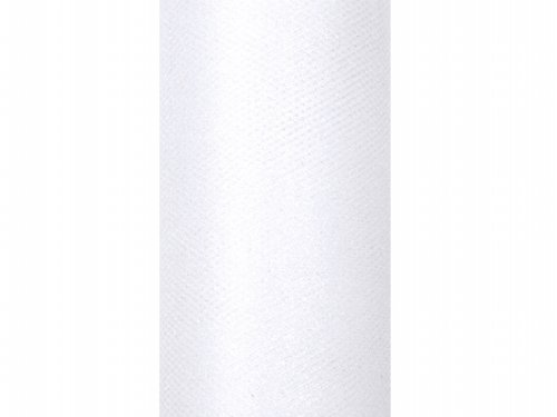 Glitzer / Glitter 9m x 15cm Stoff Hochzeit Tischläufer Deko Floristik (weiß) (Weißes Tüll Blumen Dekoration)