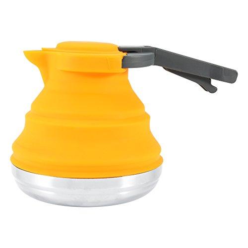 Silicone pieghevole bollitore Portable bollito acqua bollitore per tè, caffè casa Outdoor campeggio escursionismo viaggio Orange
