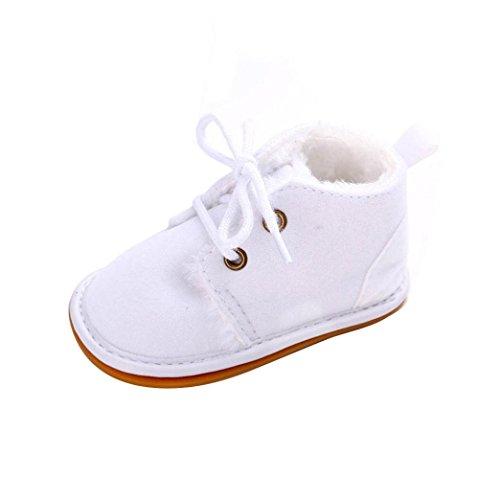 Chaussures de bébé,Transer ® Mode Bébé 0-18 Mois Garçon Filles Keep Chaud Caoutchouc souple Bottes de neige doux berceau Chaussures Blanc