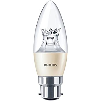 philips led warm glow b22 bayonet cap dimmable candle light bulb 4 w 25 w warm white. Black Bedroom Furniture Sets. Home Design Ideas