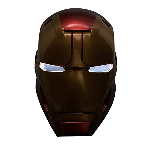 Spider Kostüm Tanz - K-Y YK Iron Man Luminous Helmet Cosplay Halloween Props Film Iron Man mask Eye Induction Luminous Model Ornaments (mask)