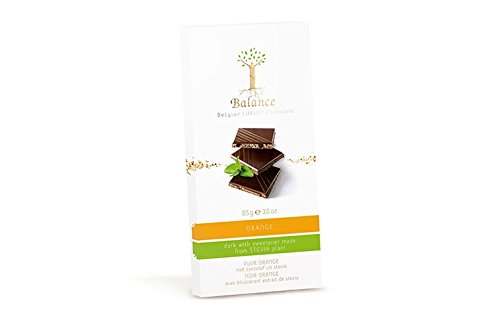 Balance Dark Orange(With Sweetener from Stevia) 85g Chocolate Bar