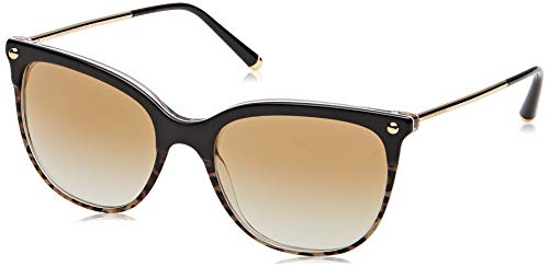 Ray-Ban Damen 0DG4333 Sonnenbrille, Schwarz (Top Black On Duble Leo Print), 55