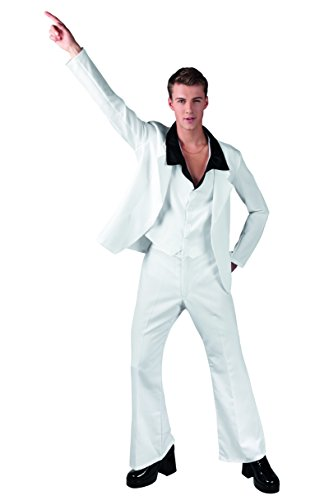 Boland 83537 - Disco Saturday Night Fever Costume Adulto, Bianco, L (54/56)
