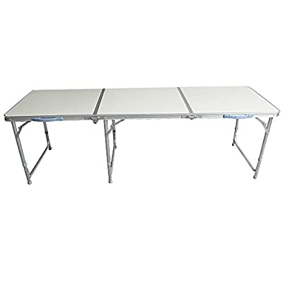 Nestling® 4/ 6 FT Aluminium Portable Trestle Camping Picnic Dining Folding Table Outdoor (6 FT) - low-cost UK light store.