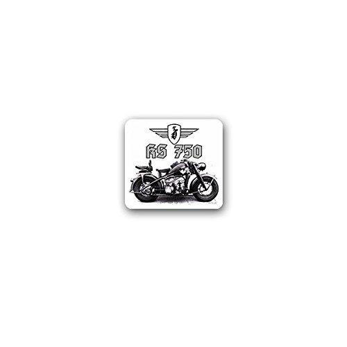 Copytec Aufkleber/Sticker -Zündapp KS 750 Motorradgespann Motorrad Gespann überschweres Bike Maschine Oldtimer Deutschland Wh Wk Militär Sammler 8x7cm #A3576