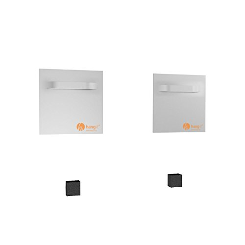 Spiegel Aufhänger Set inkl. 2 Spiegelaufhänger - Spiegelhalter und 2 Abstandshalter von Hang-it