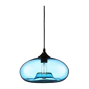257f23d8afd3 Homelavafans Modern Hand Blown Glass Bell Shaded Pendant Ceiling Lighting  with 1 Light Dining Room Lighting