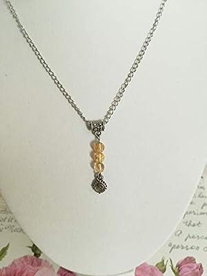 pendentif citrine, pendentif pierres naturelles, pendentif protection, pendentif acier, pendentif fait mains