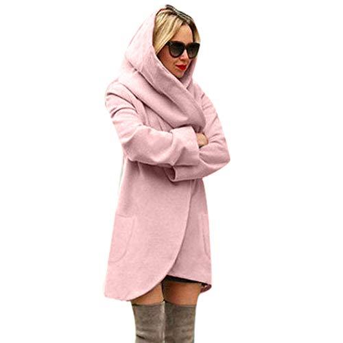 TianWlio Damen Mäntel Frauen Wolle mit Kapuze Dünnen Mantel Lose Damen Beiläufig Hoodies Jacke Mantel Top -