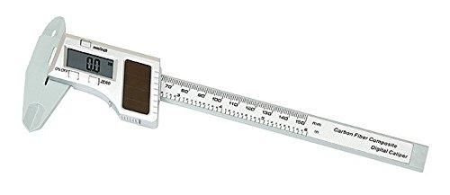 Digitale Solar Schieblehre [Lindner 8044] aus Carbonfaser Verbundstoff mit vielfältigen Funktionen und LCD-Anzeige
