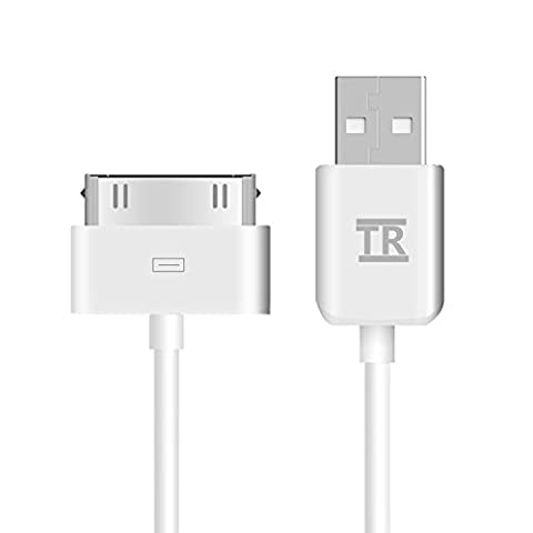 iPhone 4s Cable,iPad 2 Cable,TechRise APPLE MFI CERTIFIED Sync and Charging Cable (Length 1 Meter) for iPhone 4/4S, iPhone 3G/3GS, iPad 1/2/3, iPod - White