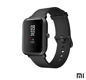 Amazfit Bip Xiaomi Sports Smartwatch - Orologio sportivo GPS | Monitoraggio attività | Cardiofrequenzimetro | Esercizio di fitness | Orologio sportivo (versione internazionale) Nero