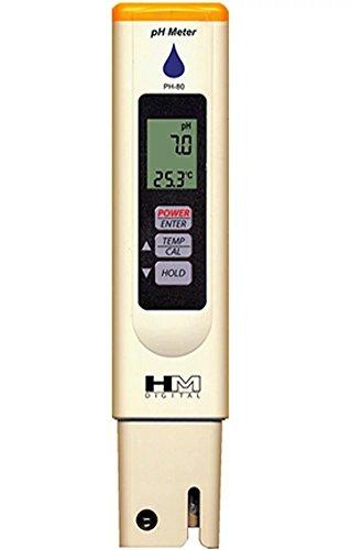 HM DIGITAL PH-Meter PH-80 ph messgerät Handheld wasserdicht Wasser Tester Stift mit ATC Hydroponics Gardening Aquarien Riffe Thermen-Wasser-Behandlung-Trinkwasser