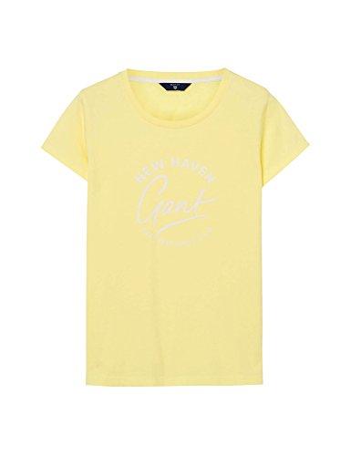 GANT Damen Script T-Shirt Capsleeve 713 Light Yellow