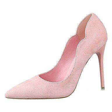 WSX&PLM Da donna-Tacchi-Matrimonio Ufficio e lavoro Serata e festa Formale Casual-Plateau Comoda Innovativo-Quadrato-Vernice Finta pelle-Nero pink
