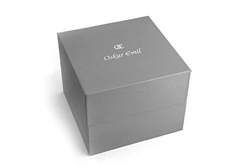 Oskar Emil, klassische Uhren, Classic men'Oskar Emil Damenuhr Wellington Brown men's Armbanduhr Analog Quarz Edelstahl Armband Braun-Gummistiefel, braun - 4