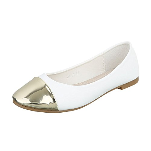 Ital-Design - Scarpe chiuse Donna Weiß Gold