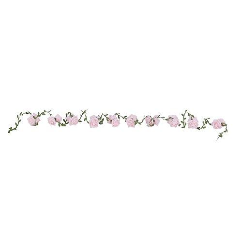 Hochzeitsdeko, Kunstblume, Rosengirlande, Rosa, Schaumstoff, L: 200 cm | knuellermarkt.de |...